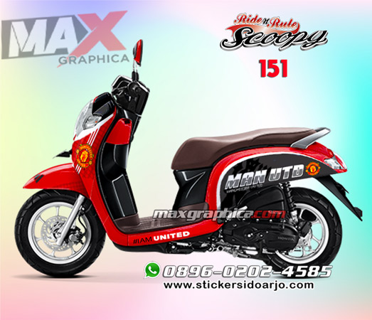 Sticker Decal Scoopy Simple Desain